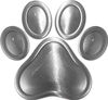 Dog Cat Animal Paw Sticker Decal in Silver