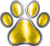 Dog Cat Animal Paw Sticker Decal in Yellow