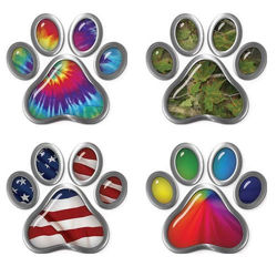 Dog Paw Decals