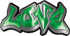 Graffiti Style Love Decal in Green