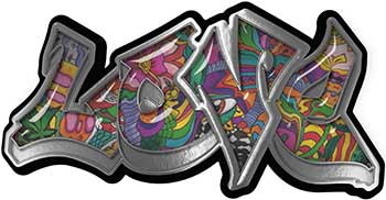 Graffiti Style Love Decal with Psychedelic Art