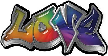 Graffiti Style Love Decal with Rainbow Colors