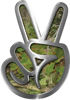 Peace Sign Decal in Camouflage