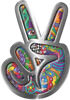 Peace Sign Decal with Psychedelic Art