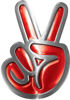 Peace Sign Decal in Red