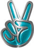 Peace Sign Decal in Teal