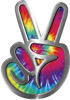 Peace Sign Decal in Tie Dye Colors