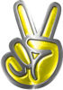 Peace Sign Decal in Yellow