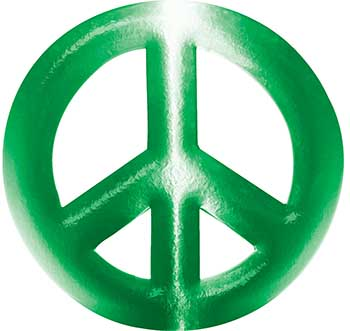 Peace Symbol Decal in Green