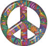 Peace Symbol Decal with Psychedelic Art