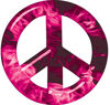 Peace Symbol Decal in Pink Inferno Flames