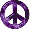 Peace Symbol Decal in Purple Inferno Flames