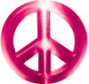 Peace Symbol Decal in Pink