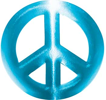Peace Symbol Decal in Teal