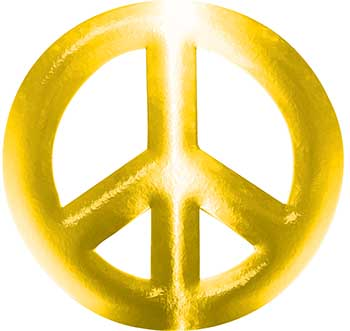Peace Symbol Decal in Yellow