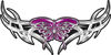 Tribal Wings withFlaming Butterfly In Purple