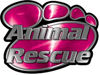 Animal Pet Rescue Paw Decal in Pink