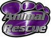Animal Pet Rescue Paw Decal in Purple