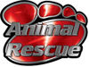 Animal Pet Rescue Paw Decal in Red