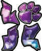 Love Decal with Pet Paw for Heart with Hearts