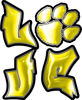 Love Decal with Pet Paw for Heart in Yellow
