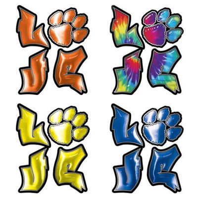 Love Decal with Dog Paw