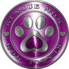 Rescue Mom Pet Rescue Adoption Paw and Heart Sticker Decal in Purple