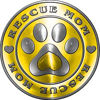 Rescue Mom Pet Rescue Adoption Paw and Heart Sticker Decal in Yellow