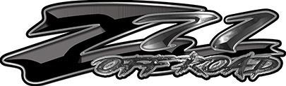 GMC or Chevy Z71 Off Road Decals in Black