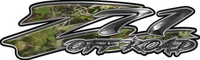 GMC or Chevy Z71 Off Road Decals in Camouflage