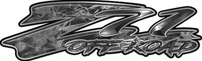 GMC or Chevy Z71 Off Road Decals in Gray Camouflage