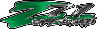 GMC or Chevy Z71 Off Road Decals in Green