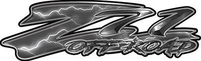 GMC or Chevy Z71 Off Road Decals in Gray Lightning