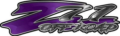 GMC or Chevy Z71 Off Road Decals in Purple