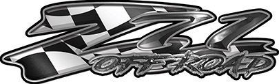 GMC or Chevy Z71 Off Road Decals with Racing Flag