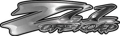 GMC or Chevy Z71 Off Road Decals in Silver