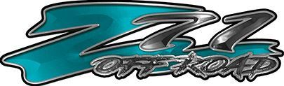 GMC or Chevy Z71 Off Road Decals in Teal