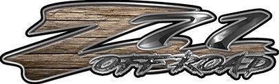 GMC or Chevy Z71 Off Road Decals in Old Wood
