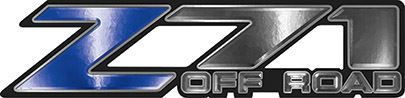 Classic Z71 Off Road Decals in Blue