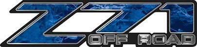 Classic Z71 Off Road Decals in Blue Camouflage