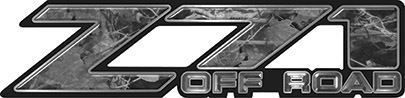 Classic Z71 Off Road Decals in Gray Camouflage