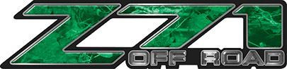 Classic Z71 Off Road Decals in Green Camouflage