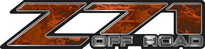 Classic Z71 Off Road Decals in Orange Camouflage