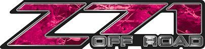 Classic Z71 Off Road Decals in Pink Camouflage