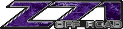 Classic Z71 Off Road Decals in Purple Camouflage