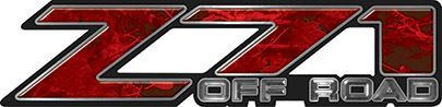 Classic Z71 Off Road Decals in Red Camouflage
