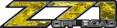 Classic Z71 Off Road Decals in Yellow Camouflage