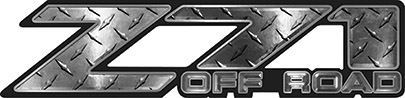 Classic Z71 Off Road Decals in Diamond Plate