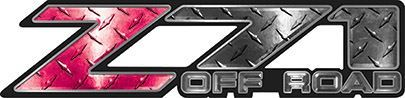 Classic Z71 Off Road Decals in Pink Diamond Plate