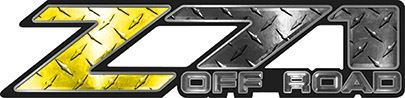 Classic Z71 Off Road Decals in Yellow Diamond Plate